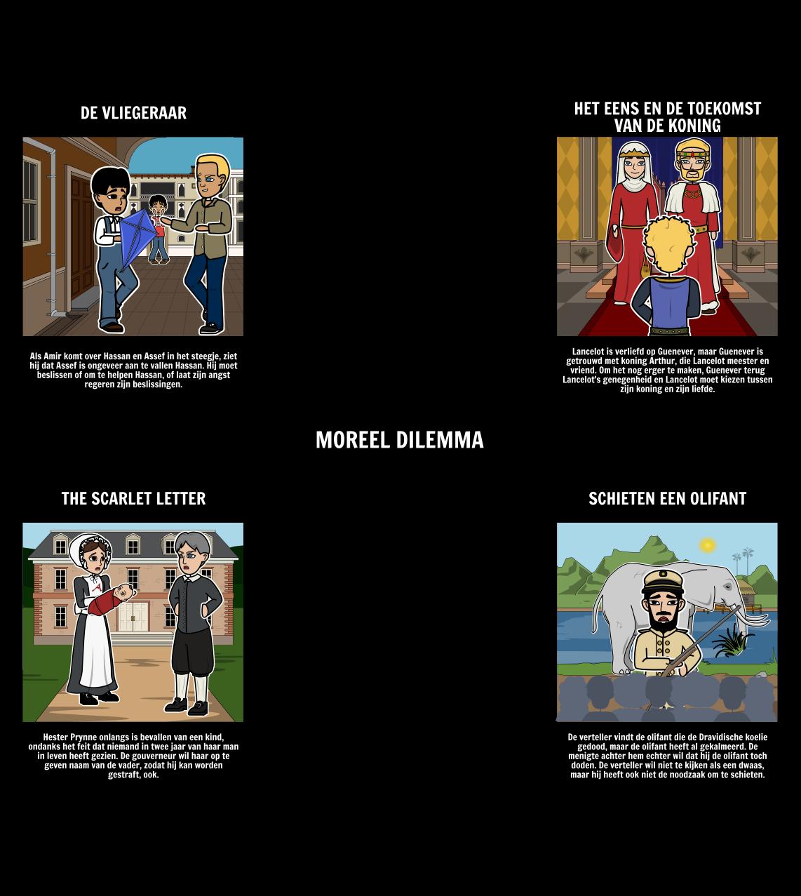 Voorbeelden van Morele Dilemma's in Literature