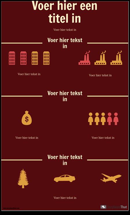 Wetenschaps Infographic Sjabloon