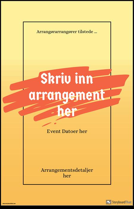 Arrangementsplakat 1