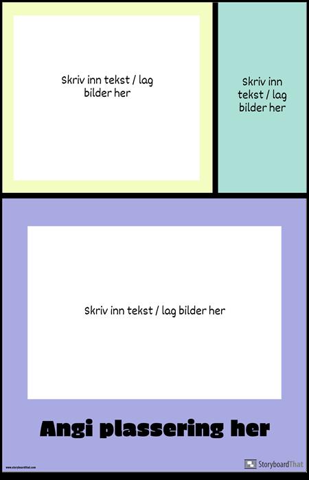 Fargeblokker Reiseplakat
