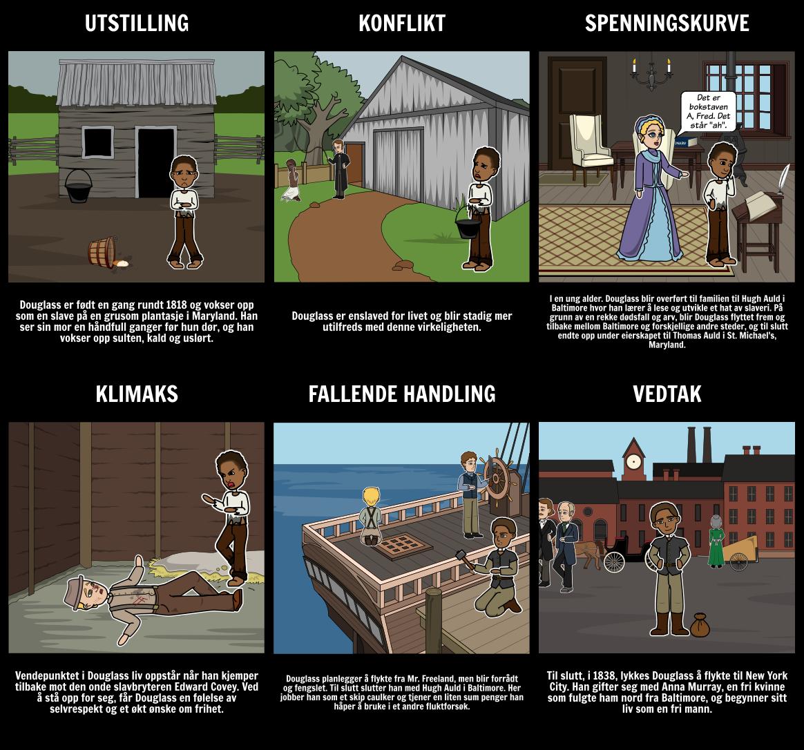 Fortellelse om Livet til Frederick Douglass Plot Diagram