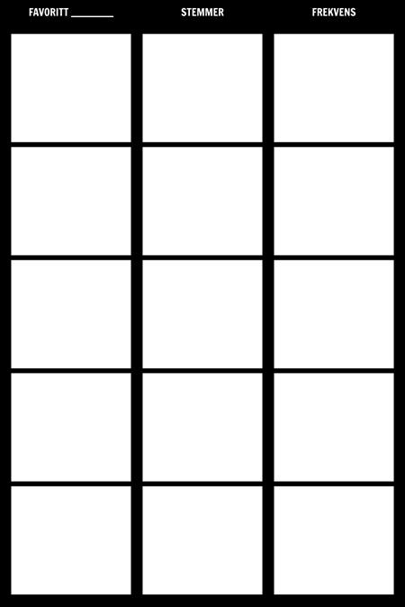 Frekvens Tally Chart Mal