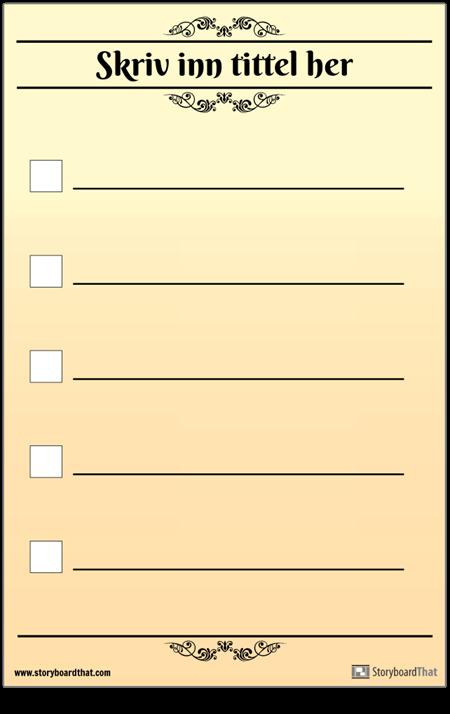 Grunnleggende 5 Sjekkliste