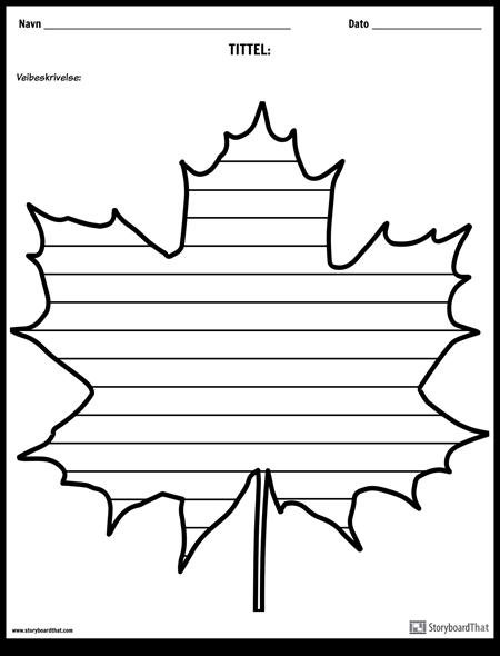 Kreativ Skriving - Maple Leaf