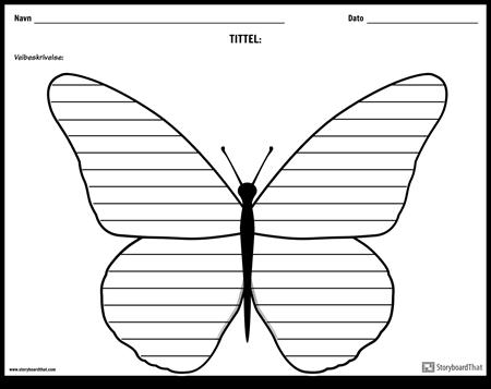 Kreativ Skriving - Sommerfugl