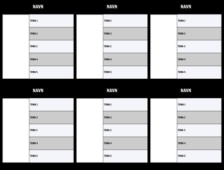 Tegnkart 5-Field Mal