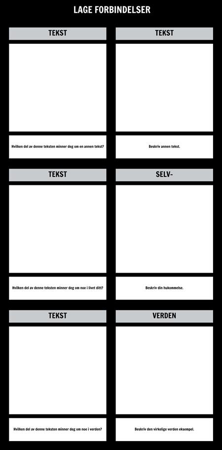 Tekst Tilkoblinger T-diagram mal