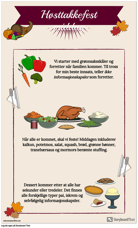 Thanksgiving-menyen