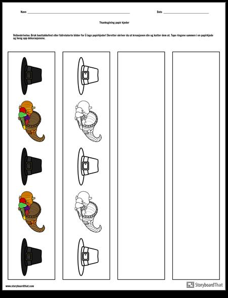 Thanksgiving Papir Kjeder