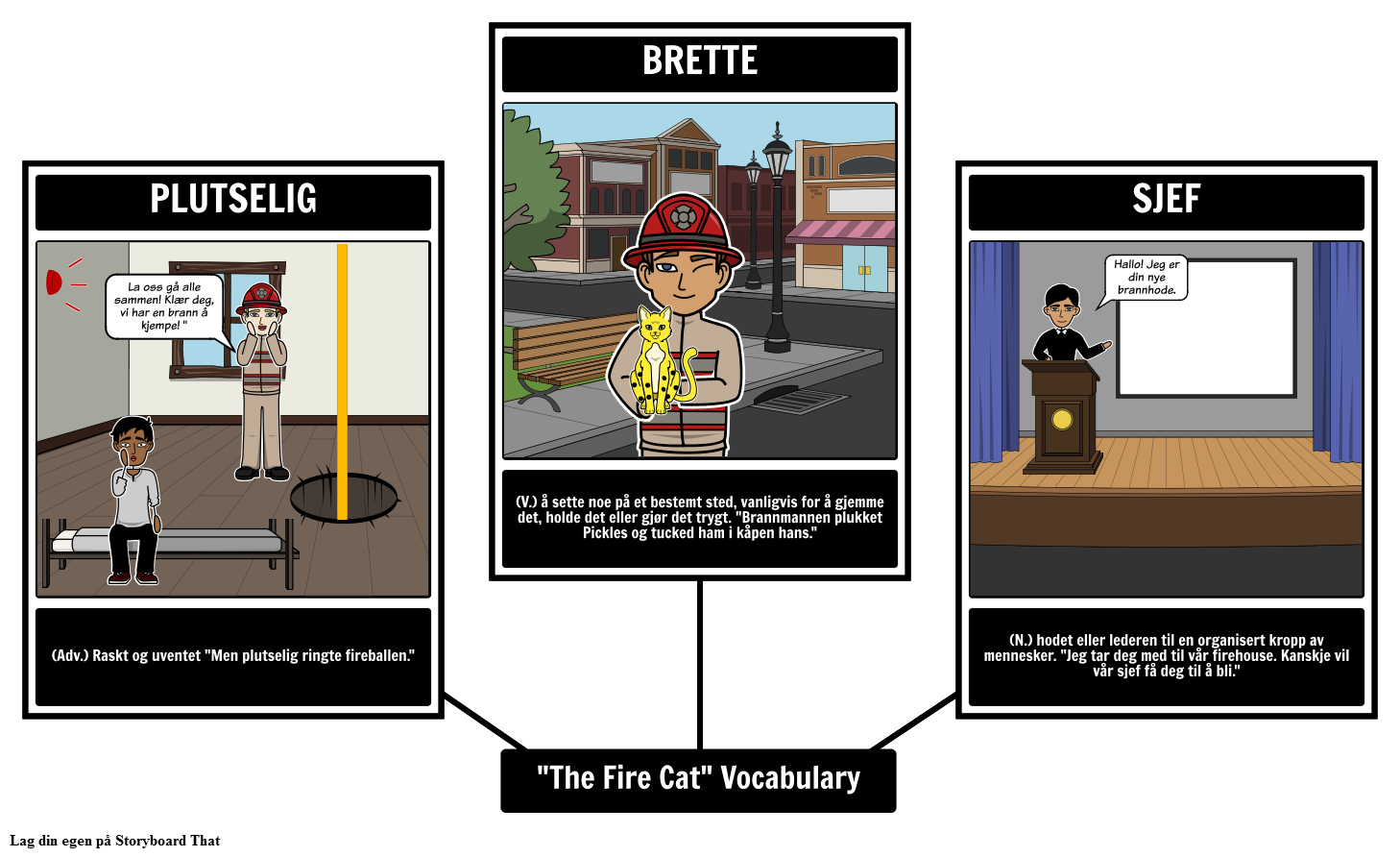 The Fire Cat Vocabulary