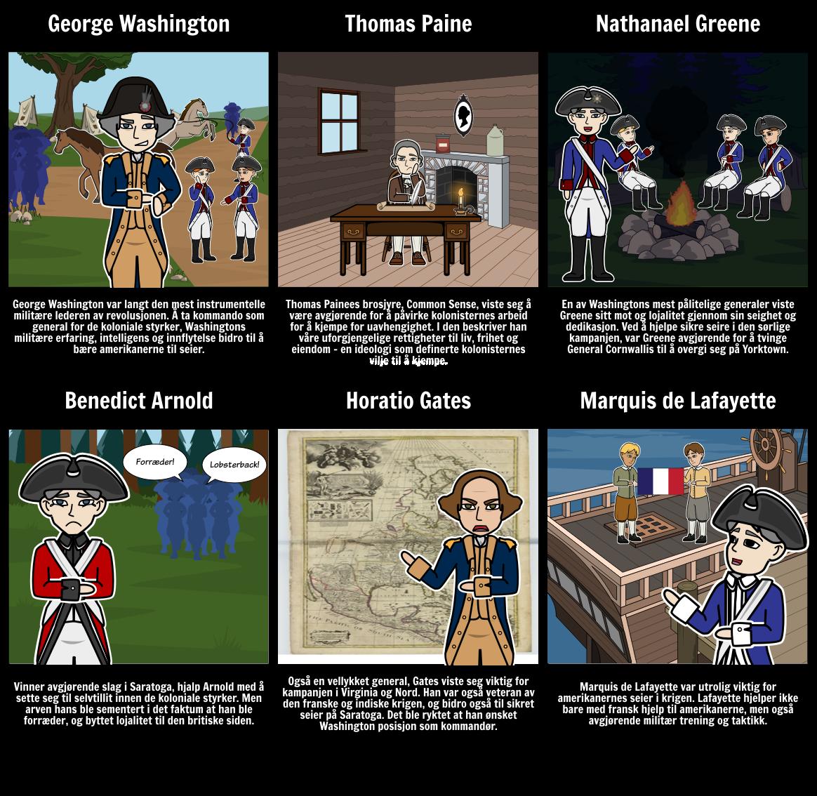Viktige Personer av den Amerikanske Revolusjonen