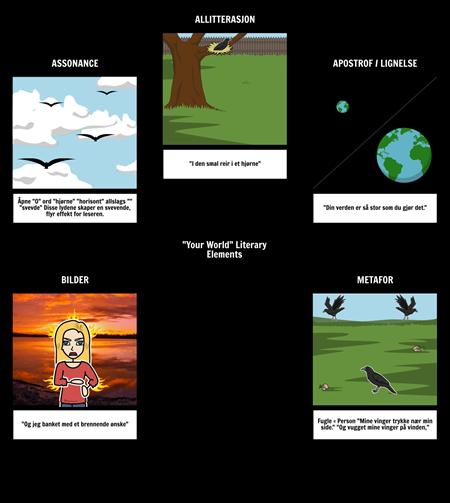 Your World - Litterære Elements