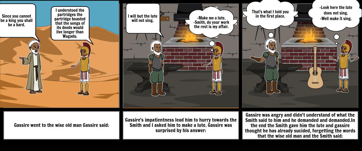 english summary of Gassire's lute
