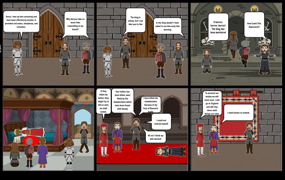 Macbeth Act 2 Scene 3 The King is Dead!