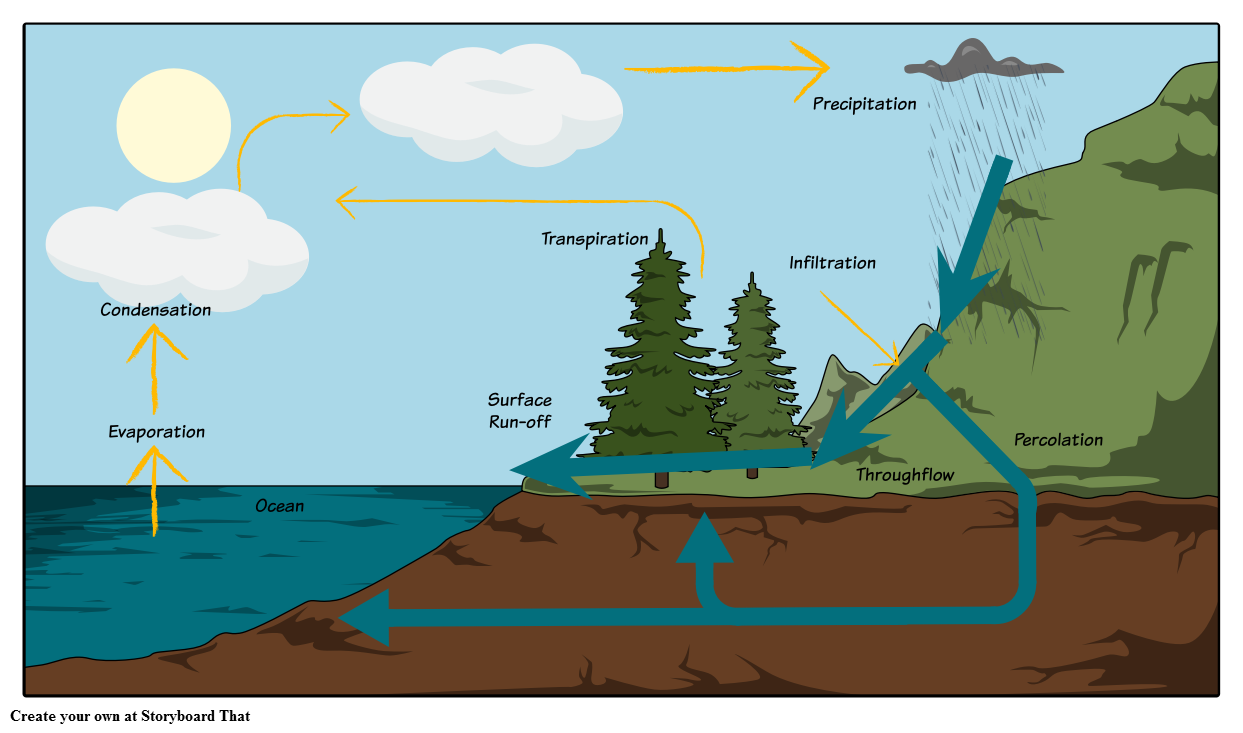 The Water Cycle Diagram Storyboard by oliversmith