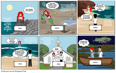 Direct Or Indirect Comic Strip Project: Annabella Pearce: Little Memaid
