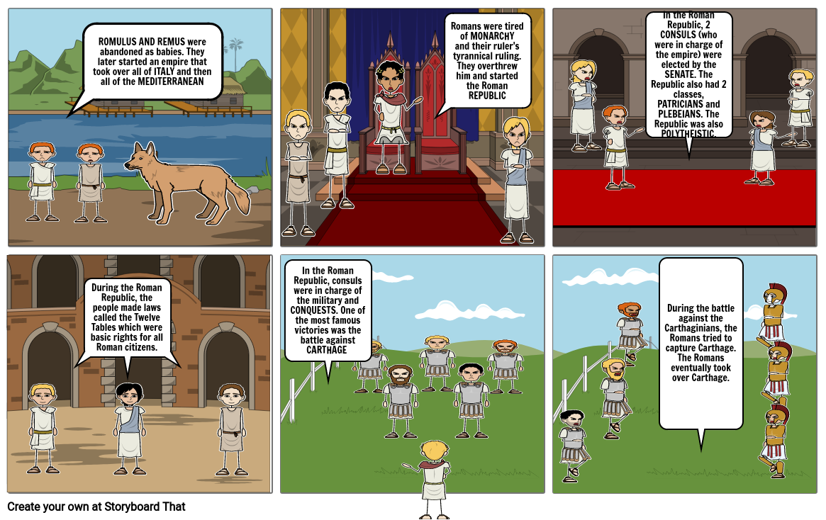 StoryBoard timeline of Rome