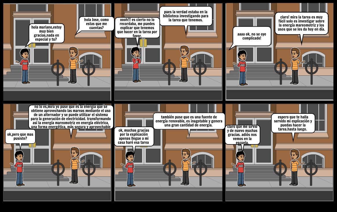 cómic sobre la energía mareomotriz