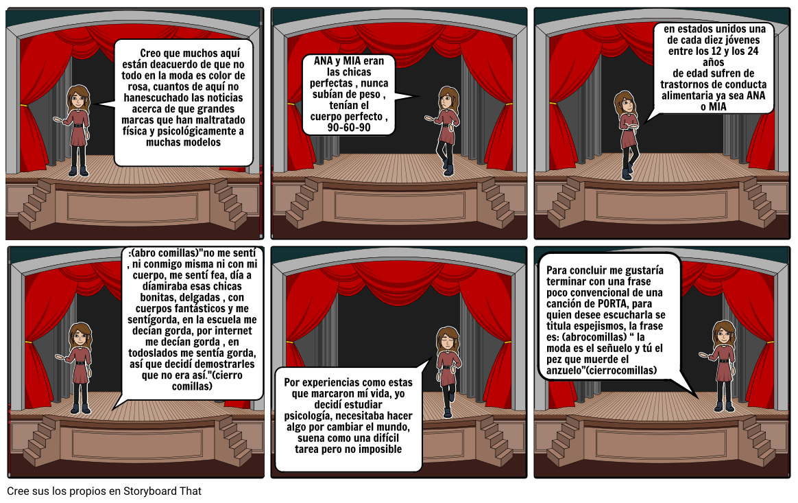 story board bulimia y anorexia