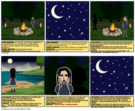 "ENGLISH STORY BOARD  ASSESSMENT -""CAMP NIGHTMARE"" - PAVLE CEPRNJA 8 ST"