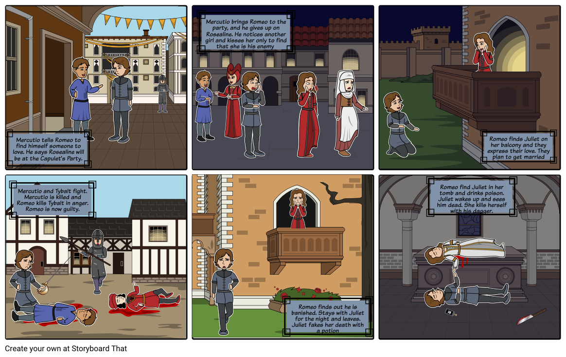 Romeo And Juliet Cartoon Storyboard By Paytonv