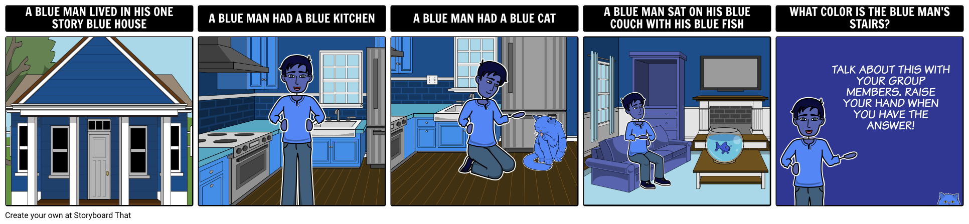 Blue Man Riddle