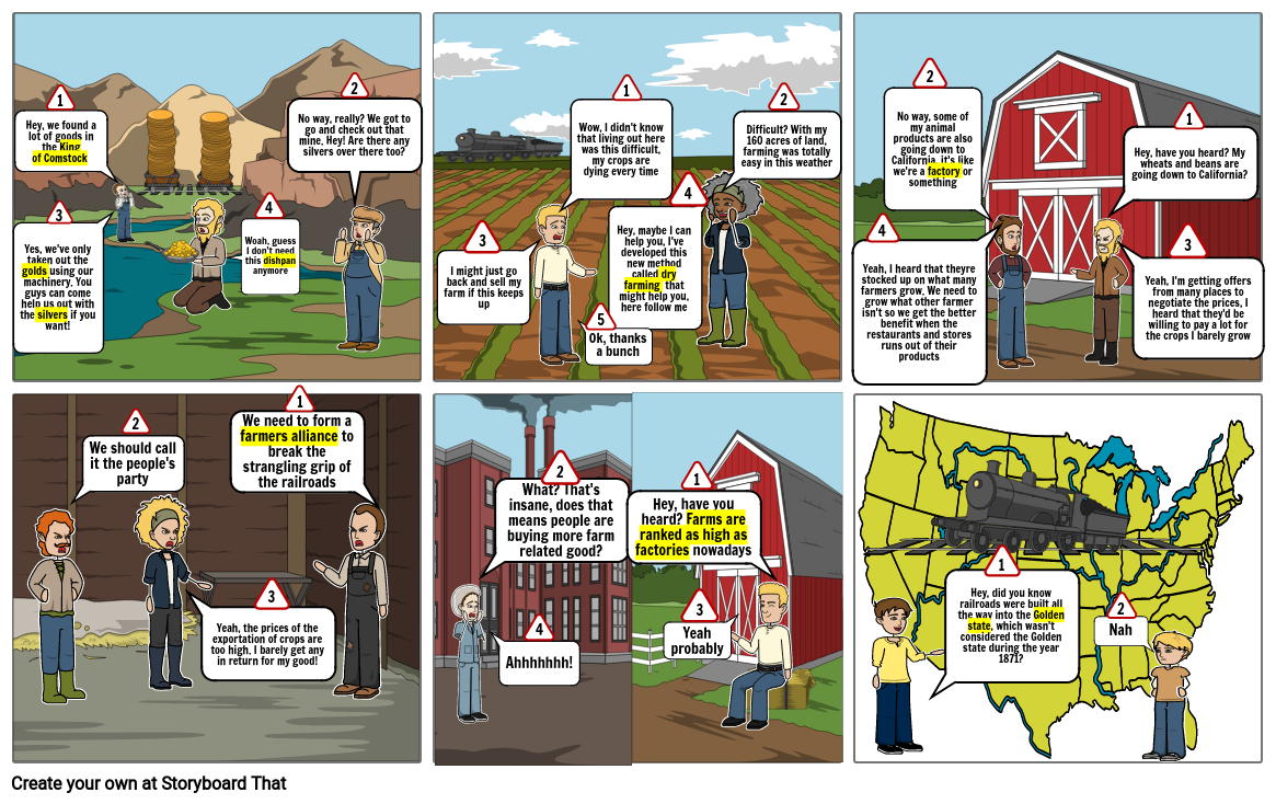 The Wild West Storyboard