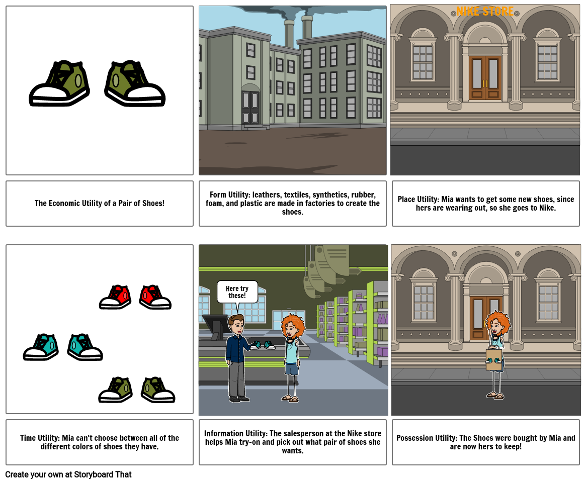 Economic Utility Storyboard Creation