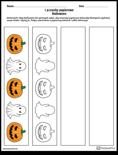 Łańcuchy Papierowe Halloween