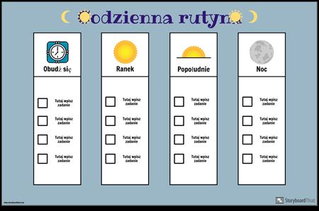 Codzienna Rutynowa Tabela