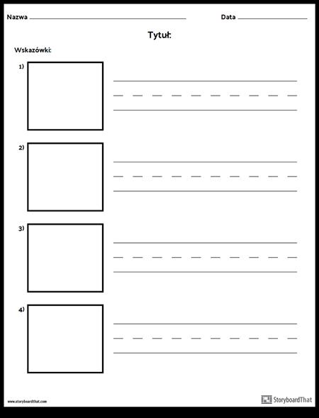 Ćwicz Pisanie - Dłuższe Słowa i Ramki Obrazkowe