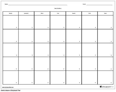 Kalendarz - 7 dni