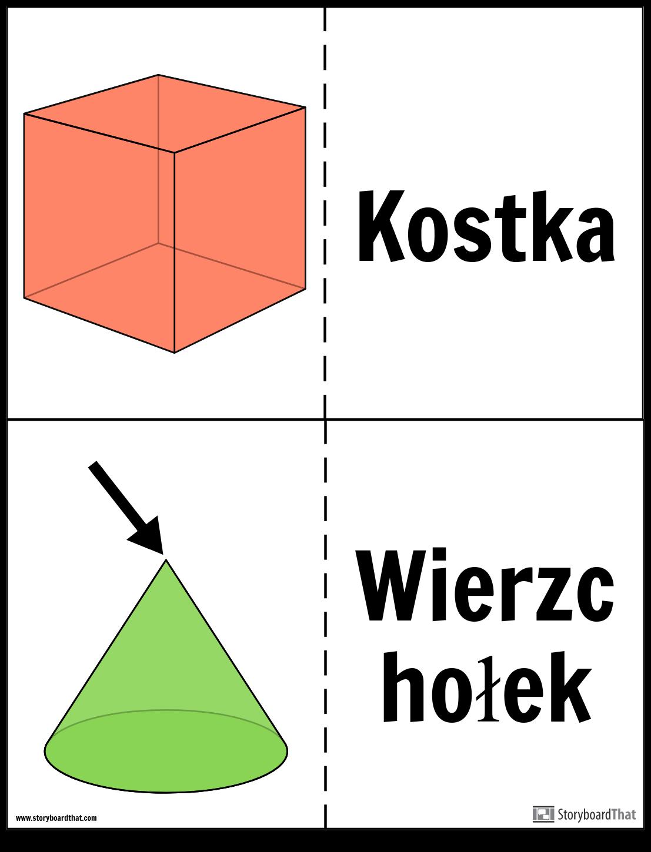 Karty Flash z Bryłami Geometrycznymi