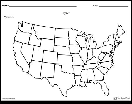Mapa Stanów Zjednoczonych
