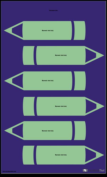 Ołówki Infographic Szablon