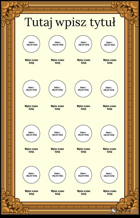 Oprawiony Plakat Słownictwa Wizualnego