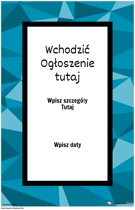 Plakat Ogłoszenia