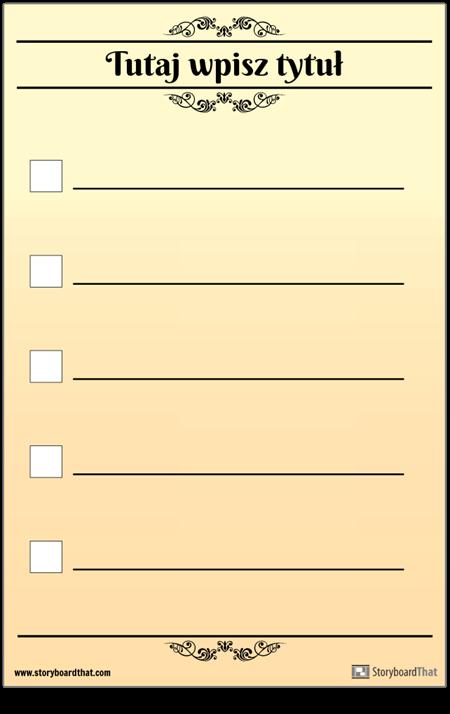 Podstawowa Lista Kontrolna 5