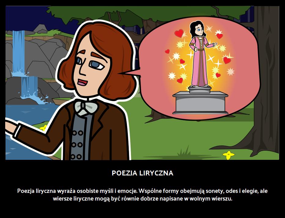 Poezja Liryczna Storyboard By Pl Examples