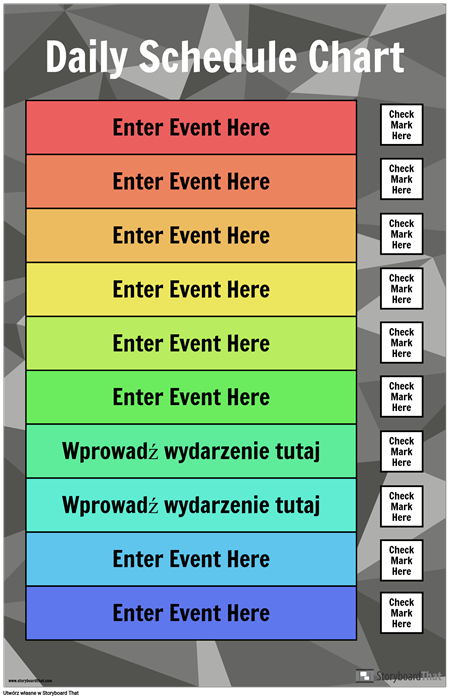 Tabela Harmonogramu Dziennego