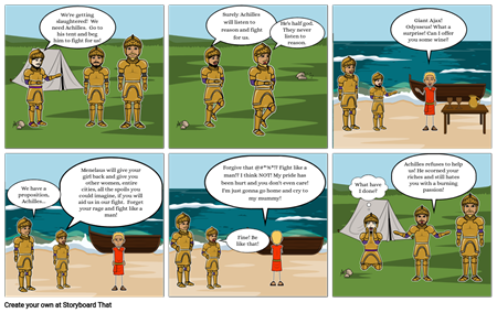 Kaylisa's Iliad cartoon