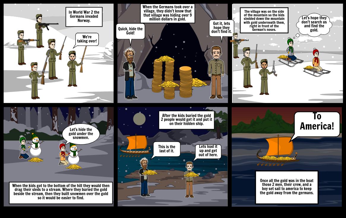 Snow Treasure StoryBoard