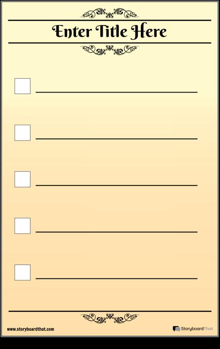 Basic 5 Check Checklist