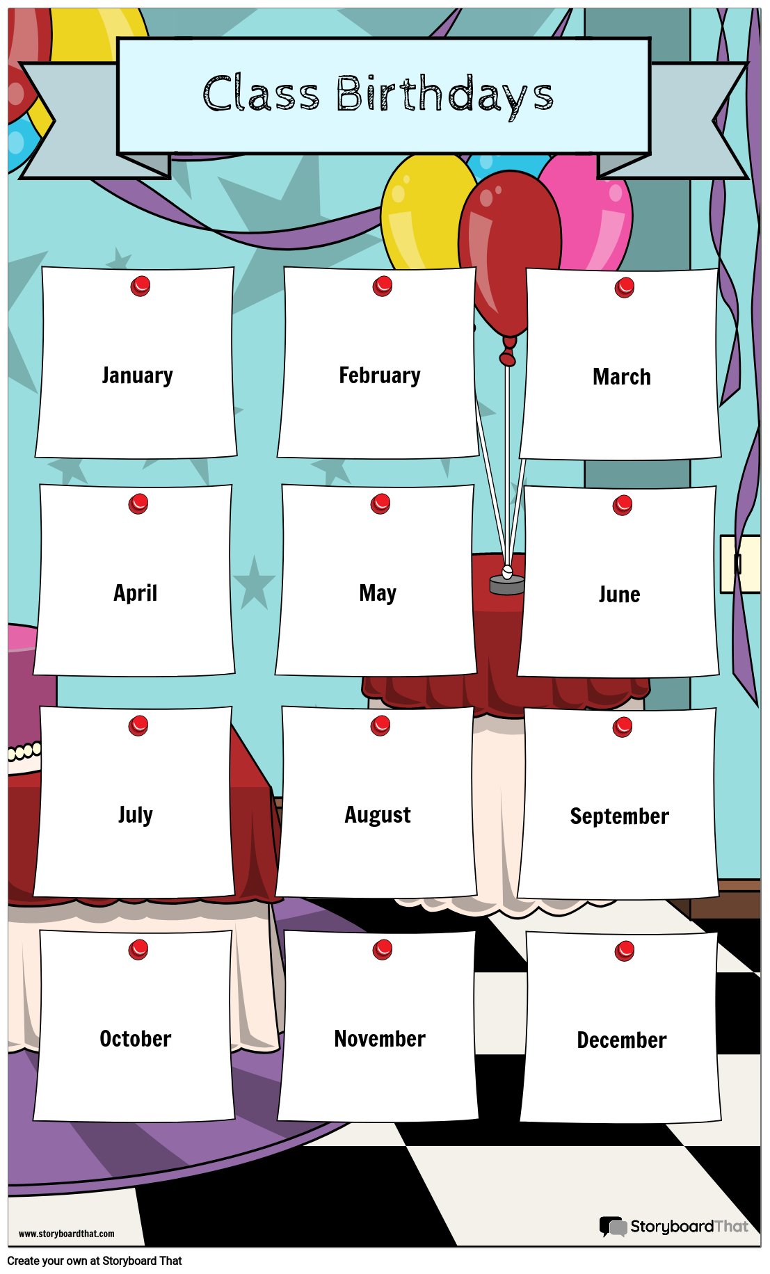 classroom birthday calendar storyboard by poster templates. Black Bedroom Furniture Sets. Home Design Ideas