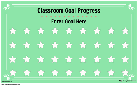 Classroom Goal Display Poster