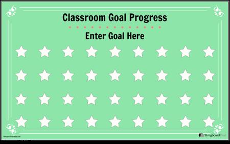 Classroom Goal Display Poster
