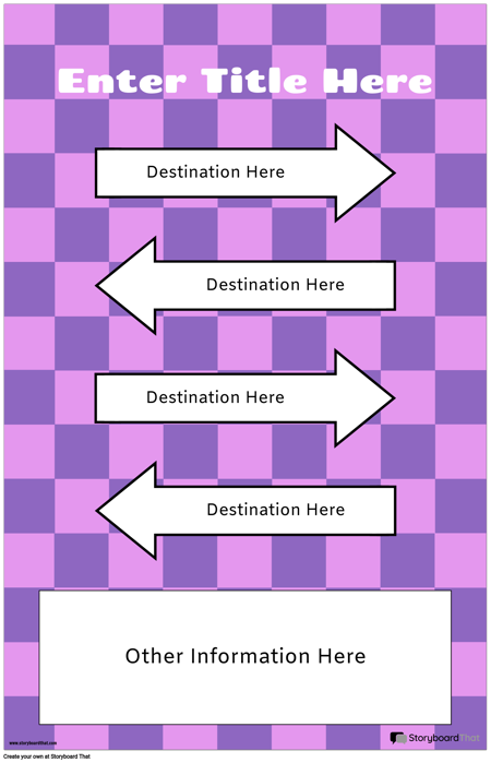 Directional Poster with Arrows