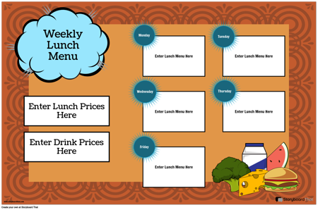 Lunch Menu Poster