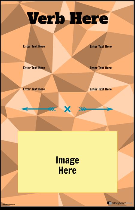 Vertical Verb Conjugation Poster