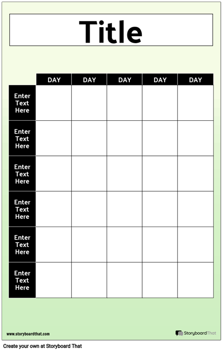 Weekly Grid-Poster